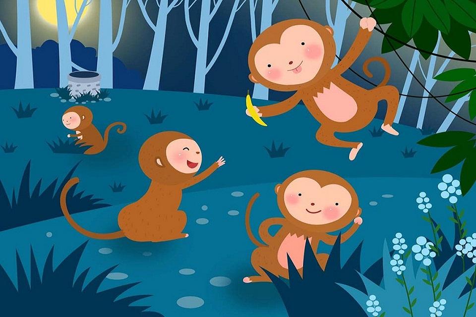 猴子简笔画头饰_猴子简笔画头饰画法